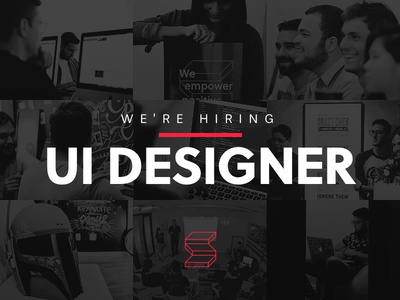 We're Hiring! job maker team designer visual ux ui hiring