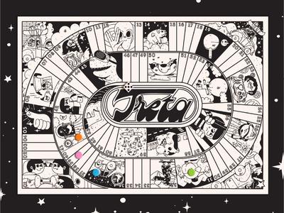 Treta Board Game. stay home board games board game illustration