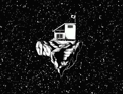 Self isolation. self isolation social isolation isolation black and white illustration