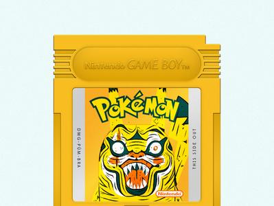 Pokémon Yellow pokeball catridge gameboy illustrator vector nintendo pikachu yellow pokemon