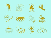 Icons for Milk, kid's clothing