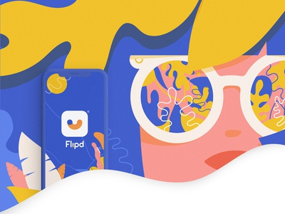Flipd. app branding app logo graphic design ux ui canada brazil vector illustration branding identity
