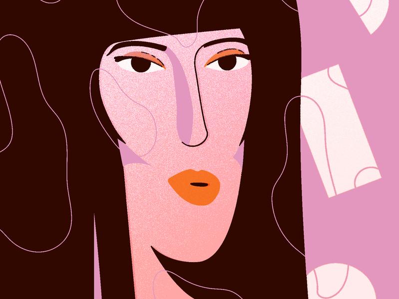 Cher cher vector character illustration