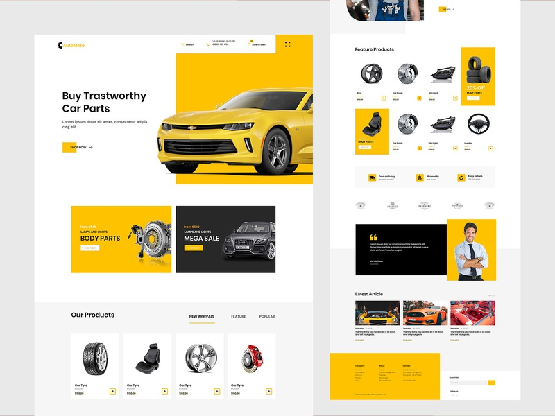 Car Repair Home page ui homepage experience design branding agency illustration landing page car repair shop car website illustrations header