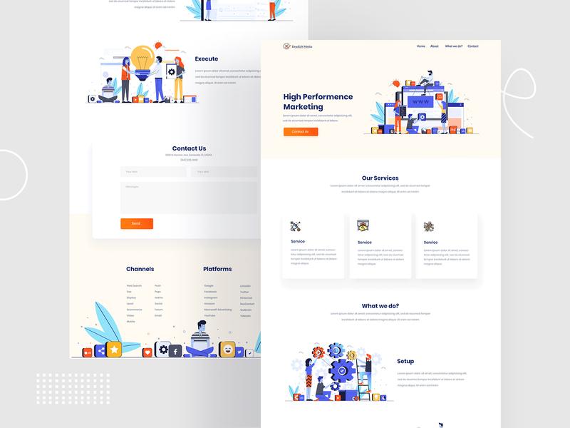 Deadline Media Home Page Design