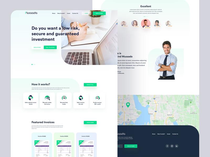 Musada Redesign Homepage redesign pirala ui ux experience vector clean illustration typography minimal website design