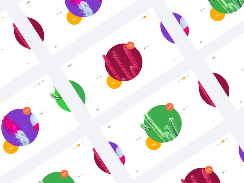 Plant Web Header website design uiux pirala branding agency experience color branding ui clean minimal design website header