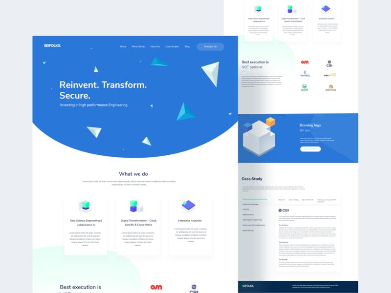 Adfolks Website Redesign homepage landingpage saas websites app pirala ux ui design illustration minimal typography branding agency redesign website