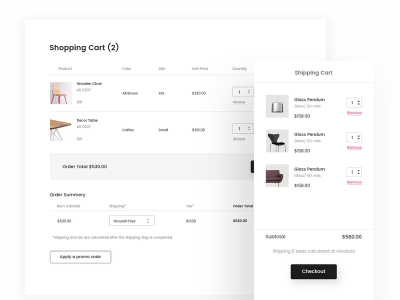 Shopping Cart ecommerce shop shopping cart experience typography clean minimal website design