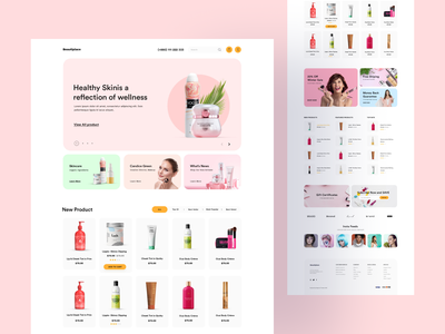 eCommerce Cosmetic Web design designs card skin beauty body products shoping shopify shop minimal ecommerce cosmetic pirala typography design