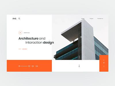 Landing page exploration web ux interface experience user ui ixda interior design interaction architechture clean