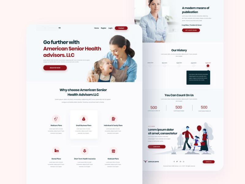 Helth Advisor Web Explore homepage uix ui website header illustrations branding agency design minimal helth