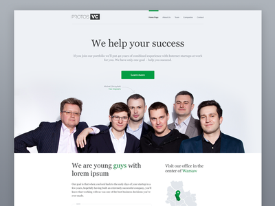 Protos Venture Capital poland protos venture capital big photo team website vc green