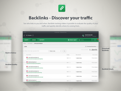 Backlinks Positionly Landing Page
