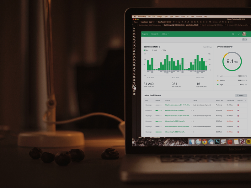 Positionly Beta positionly beta ui design green