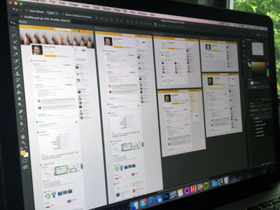 Goldenline profile user interface light sidebar ux design ui artboards background profile yellow linkedin goldenline