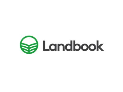 Landbook logo landbook land-book book land green logo