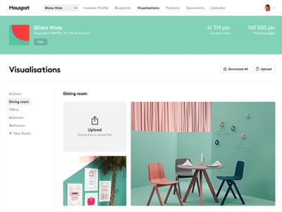 Ui interface viz color design bold flat ui