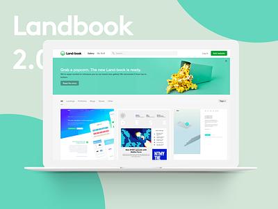 Landbook 2.0 websites inspirations welcome popcorn splash cards new gallery landbook
