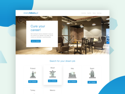 Docplanner Career Page illustration background image blue page website career docplanner