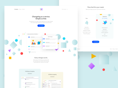 Headway new landing page page light product landing page white clean minimal colors