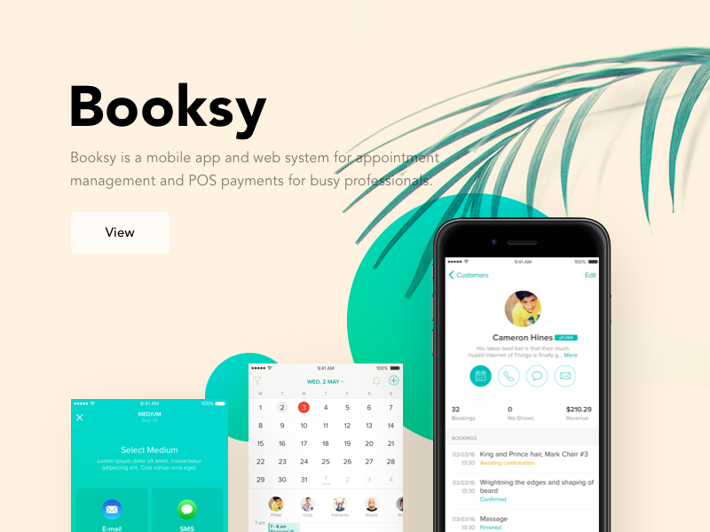 booksy preview prototyping dribbble