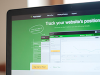Positionly landing page