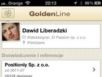 Golden big profile