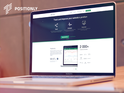 Positionly New Landing positionly green blue landing page promo page seo position poland