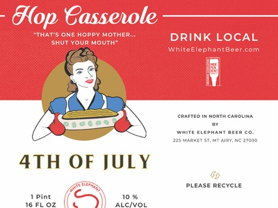 Hop Casserole Crowler - White Elephant Beer Company