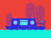 Neon Narrowboat