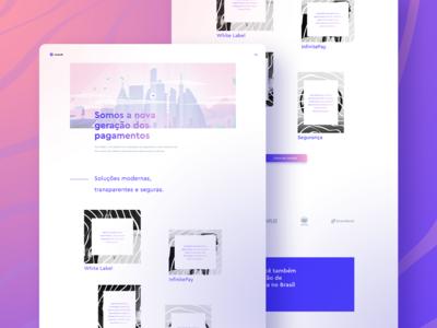 Cloudwalk - Home Page interface