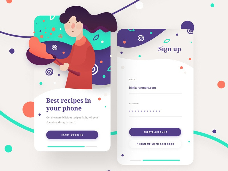 Daily UI #001 - Create a sign up page signupform sign up signup dailyui 001 daily ui dailyui vector app ux ui illustration design