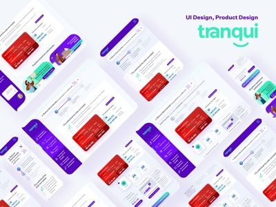 UI Design - Tranqui Web App illustration ux typography app web ui design