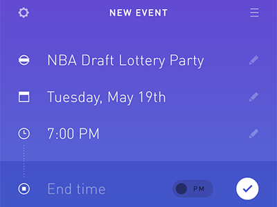 Simple Event Planner for iOS event time date calendar mobile meetup duration