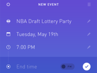 Simple Event Planner for iOS