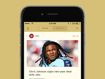 Top News Feed activity trending feed mobile ui sports nfl