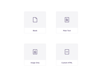 Simple Email Template Cards