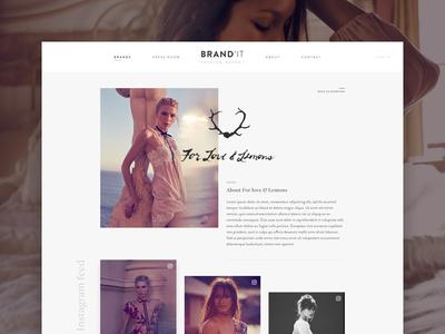 Fashion agency brand ux ui women feminine shop grid experimental modern ecommerce website fashion