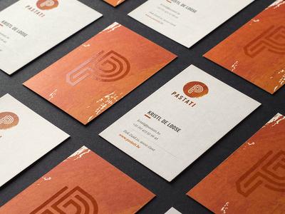 Pastati business card print laminate spot p logo photo cards bright identity branding card business
