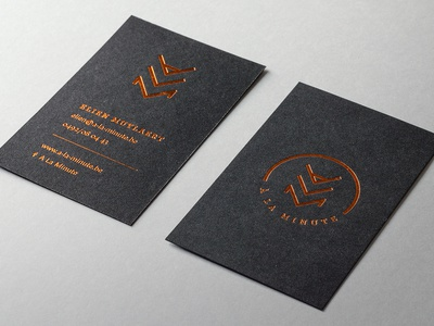 A La Minute business card
