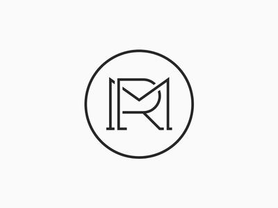 MR logo geometric monoline lines lettering branding brand identity typography type logotype logo