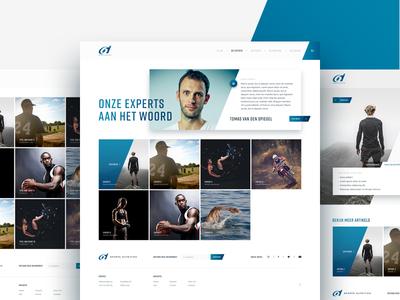 Sport nutrition expert pages website web ux ui sport science nutrition gradient fitness ecommerce design