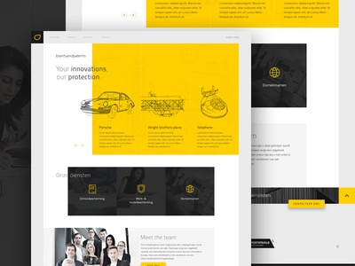 Intellectual protection website trend ux ui grid corporate patent design web website protection property intellectual