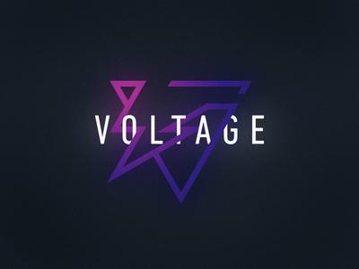 Club logo volt lightning electricity gradient club night music branding brand identity logotype logo