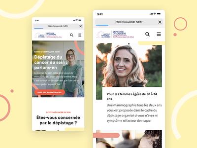 Usine à sites - Institut National du Cancer responsive visual identity branding elements typography website ui ux interface homepage mobile figma desktop design