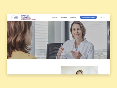 Animation usine à sites - Institut National du Cancer website responsive website visual identity ux ui typography responsive interface homepage figma elements desktop design branding principle prototype