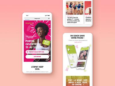 Keep Cool - Homepage 📱 mobile design mobile visual identity responsive homepage figma elements branding ux ui interface design