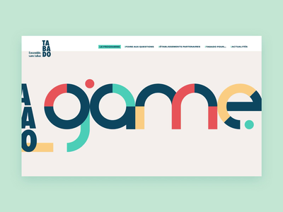 💻• Homepage • Tabado Games typogaphy elements interface principle figma homepage games desktop mobile tabac website ui ux branding design animation