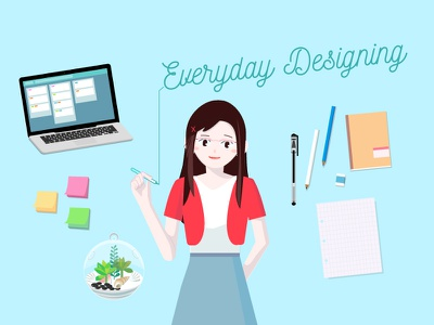 Illustration Design Everyday portrait self